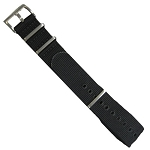 Isobrite INB100 Black Nylon Band (22mm or 24mm)