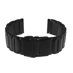 Isobrite 8400ST Black PVD Plated Stainless Steel Band (22mm)
