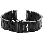ArmourLite AL88BLK Black PVD Plated Stainless Steel Band (22mm)