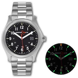 ArmourLite Field Series AL101 Swiss Made Tritium Illuminated Watch with Shatterproof Armourglass
