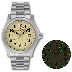ArmourLite Field Series AL102 Swiss Made Tritium Illuminated Watch with Shatterproof Armourglass