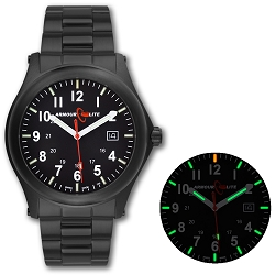 ArmourLite Field Series AL104 Swiss Made Tritium Illuminated Watch with Shatterproof Armourglass