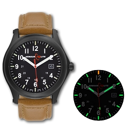 ArmourLite Field Series AL124 Swiss Made Tritium Illuminated Watch with Shatterproof Armourglass