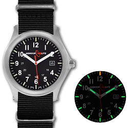 ArmourLite Field Series AL141 Swiss Made Tritium Illuminated Watch with Shatterproof Armourglass