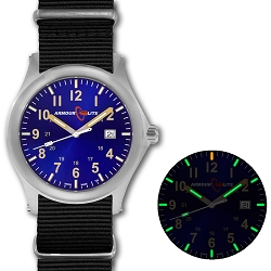 ArmourLite Field Series AL143 Swiss Made Tritium Illuminated Watch with Shatterproof Armourglass