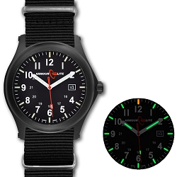 ArmourLite Field Series AL144 Swiss Made Tritium Illuminated Watch with Shatterproof Armourglass