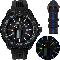 Isobrite Thin Blue Line Limited Edition T100 Tritium Illuminated Watch