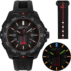 Isobrite Thin Red Line Limited Edition T100 Tritium Illuminated Watch