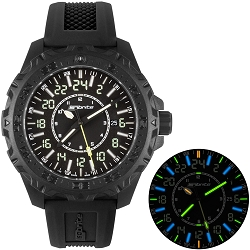 MIL24 24-Hour Military-Time T100 Tritium Illuminated Watch