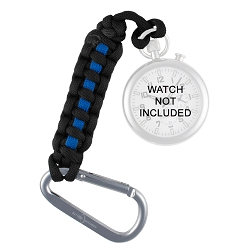 ArmourLite Pocket Watch Thin-Blue-Line Paracord Tether with Aluminum Carabiner
