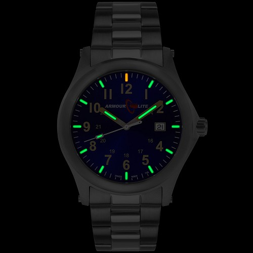 ArmourLite Field Series AL103 Swiss Made Tritium Illuminated Watch with Shatterproof Armourglass