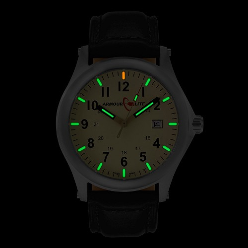 ArmourLite Field Series AL112 Swiss Made Tritium Illuminated Watch with Shatterproof Armourglass