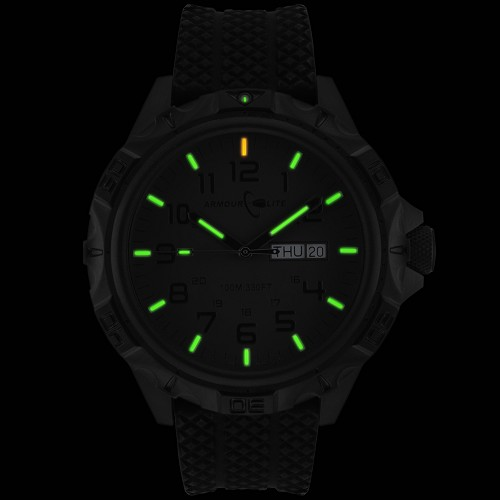 ArmourLite Professional Series AL1414 Tritium Illuminated Watch with Shatterproof Armourglass