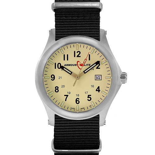 ArmourLite Field Series AL142 Swiss Made Tritium Illuminated Watch with Shatterproof Armourglass