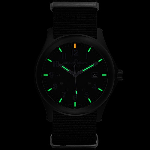 ArmourLite Field Series AL145 Swiss Made Tritium Illuminated Watch with Shatterproof Armourglass