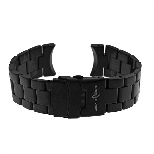 ArmourLite AL40BLK Black PVD Stainless Steel Band (22mm)