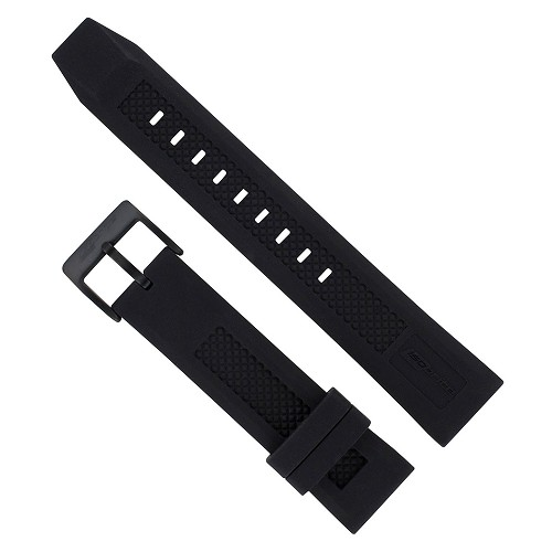 Isobrite IRB100-BLK Black Silicone Band (22mm)