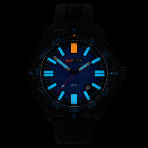 Isobrite Afterburner Blue Limited Edition Watch ISO3004