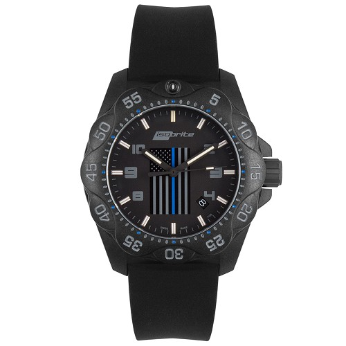 Isobrite Thin Blue Line Mid-Size Limited Edition Watch ISO3006