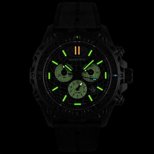 Isobrite ISO3008 Explorer Limited Edition Swiss Made T100 Tritium Illuminated Chronograph