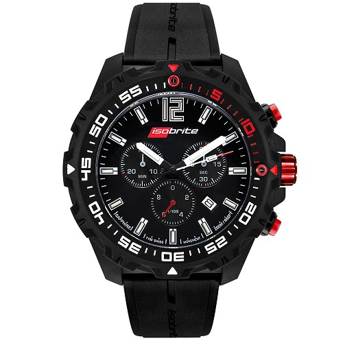 Isobrite ISO401 Valor T100 Tritium Illuminated Swiss Chronograph