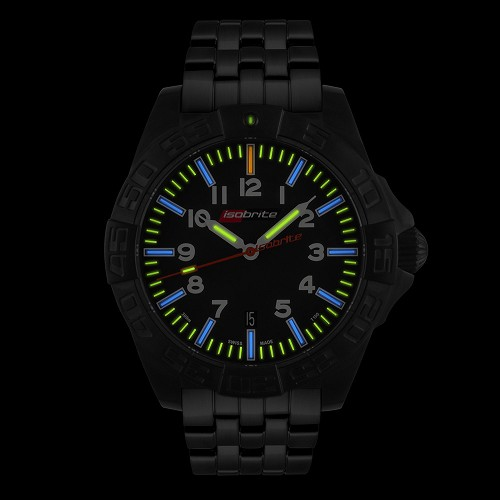 Isobrite ISO702 Swiss Made Automatic with 64 x T100 Tritium Markers