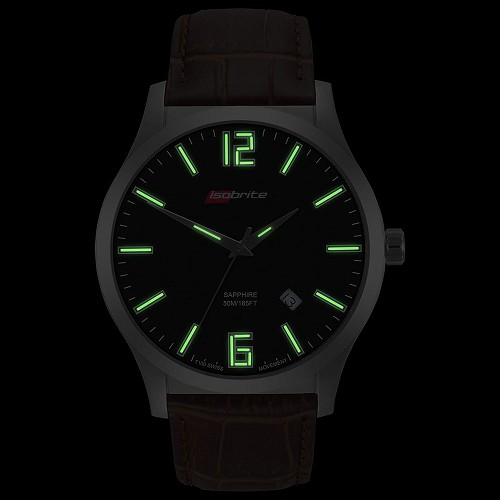 Isobrite Grand Slimline Series ISO907 T100 Tritium Illuminated Watch