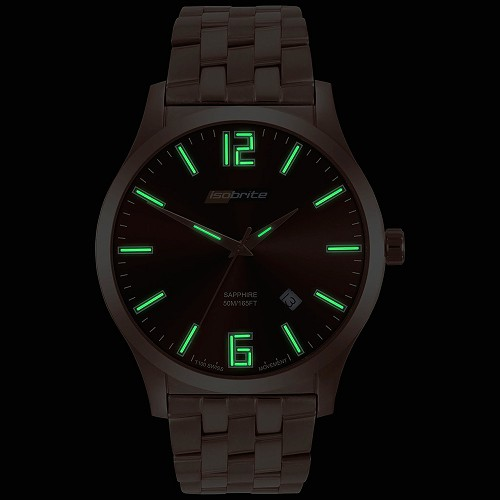 Isobrite Grand Slimline Series ISO914 T100 Tritium Illuminated Watch