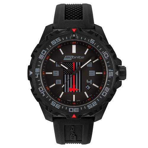Isobrite ISO3009 Fire Rescue Limited Edition T100 Tritium Illuminated Watch (comes with 3 bands)